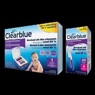 Clearblue Advanced Fertilitetsmonitor,20+4 st teststickor
