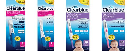 Alla Clearblue produkter