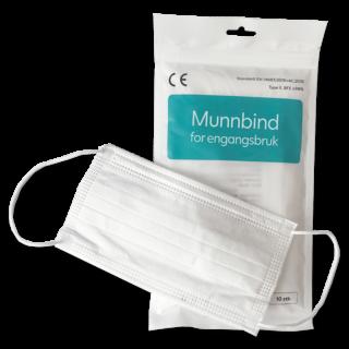Munnbind type II hvit