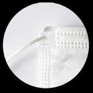 Munnbind hvit